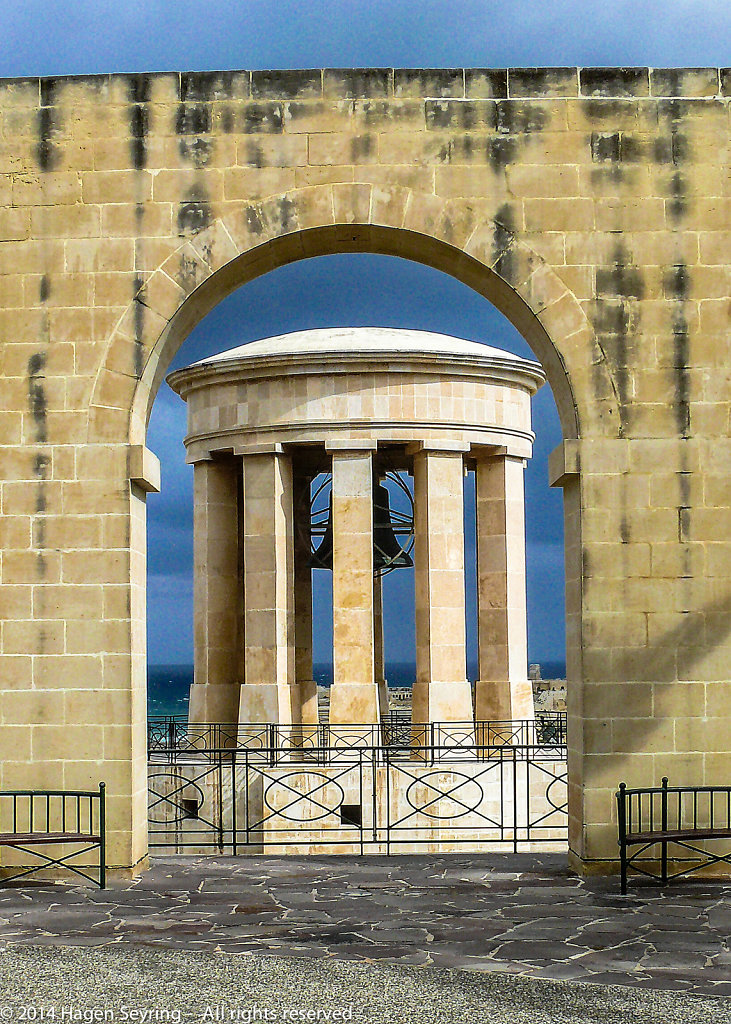 Ancient temple in Valetta