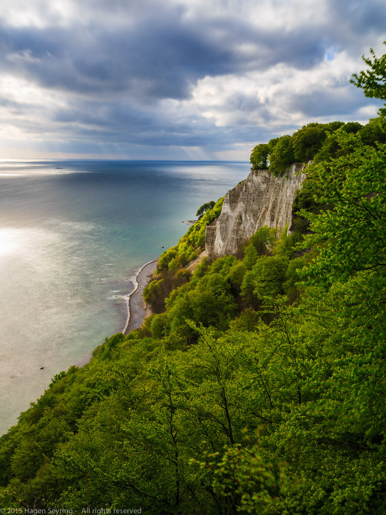 "View from cliff coast ""Königsstuhl"" to the Baltic Sea in the National Park ""Jasmund"""