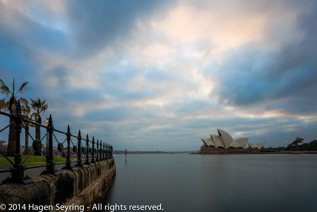 Twilight over the Sydney Opera House