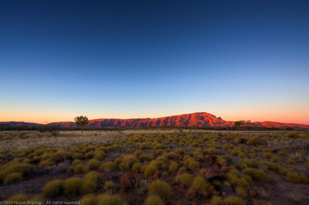MacDonnel Ranges during sunset