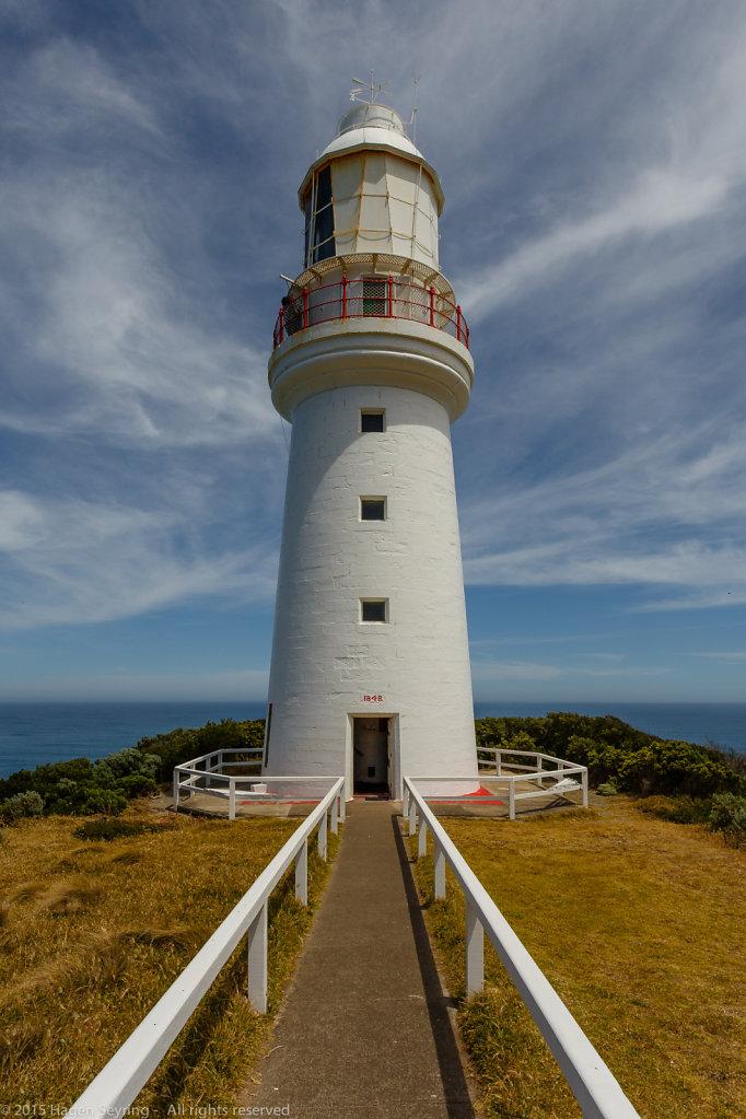 The oldest lighthouse on the australian mainland on Cape Otway